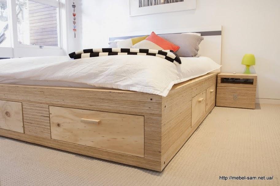 Еще один вариант фанерной кровати