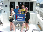 The Walter Family from Alabama, Margo, Frank, Joey, Sam and Lily  400+ Pound Blue Marlin Release