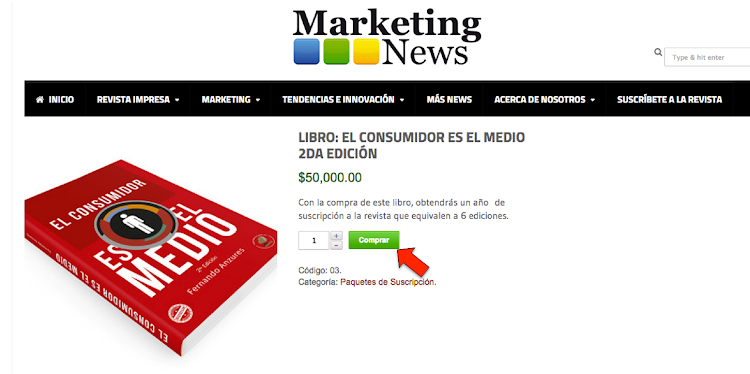Libro el consumidor es el medio