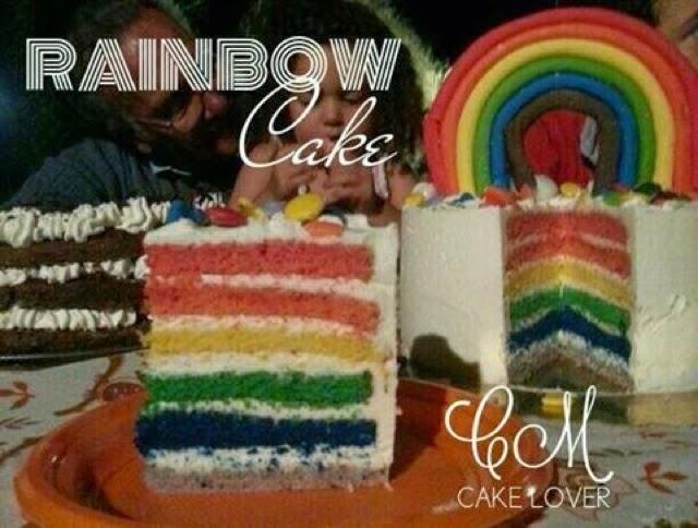rainbow cake - la torta arcobaleno