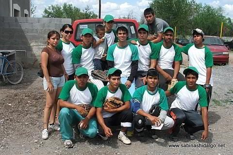 Equipo Chupacartas del torneo de softbol del Club Sertoma