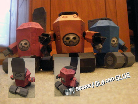 Mega Man Legends Blumebear Papercraft