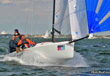 J/70 sailing St Petersburg NOOD regatta on Tampa Bay