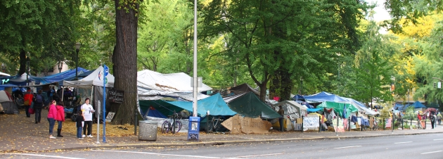 occupy portland camp site