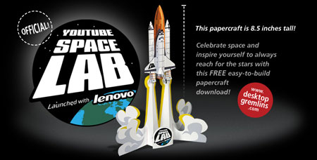 YouTube Space Lab Paper Toy