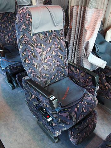 名鉄バス「不知火号」 2607 シート