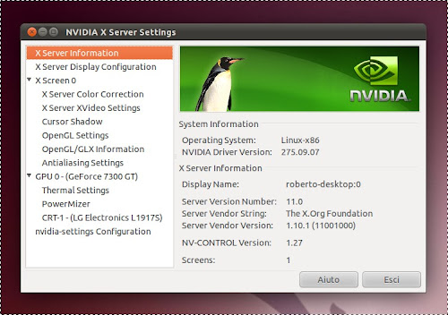 nVidia 275.09.07 su Ubuntu 11.04
