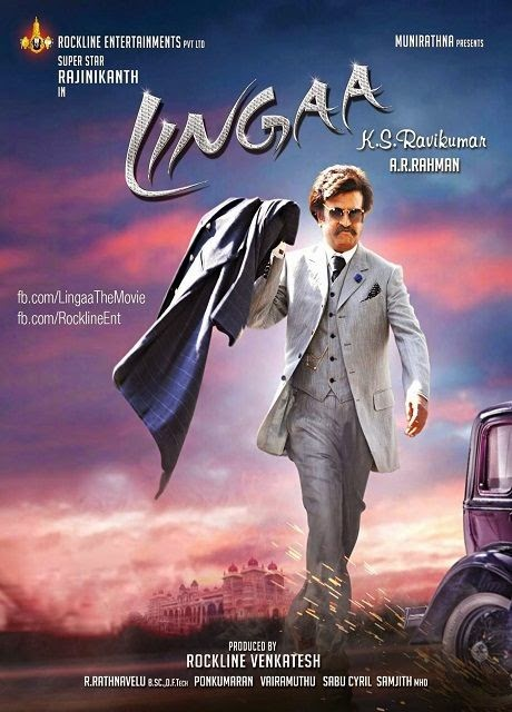 Poster Of Hindi Movie Lingaa (2014) (Hindi) Free Download Full New Hindi Movie Watch Online At Alldownloads4u.Com