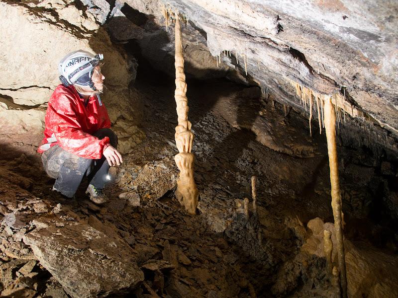Zona interior de la cova, amb boniques formacions