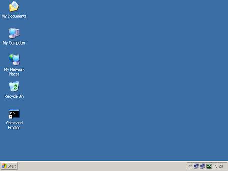 TinyXP的桌面