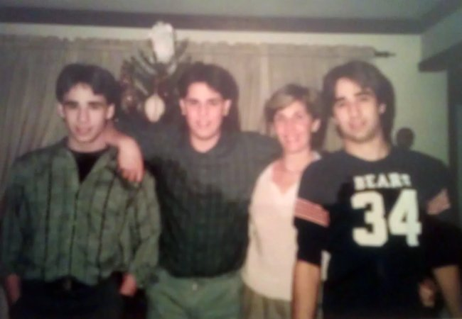 Me, my brother Mike, my mom and my brother John