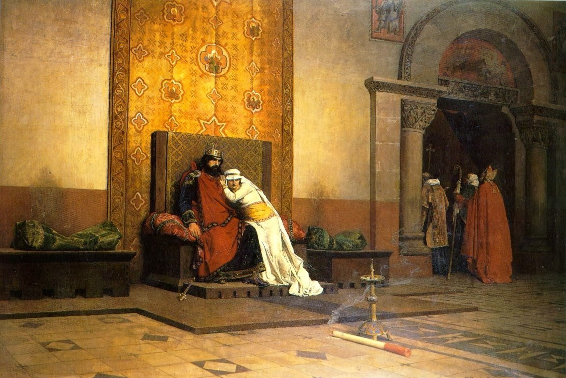 Jean-Paul Laurens - The Excommunication of Robert the Pious