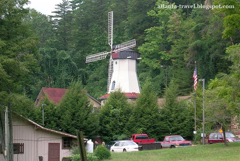 Хелен - альпийская деревня в Джорджии