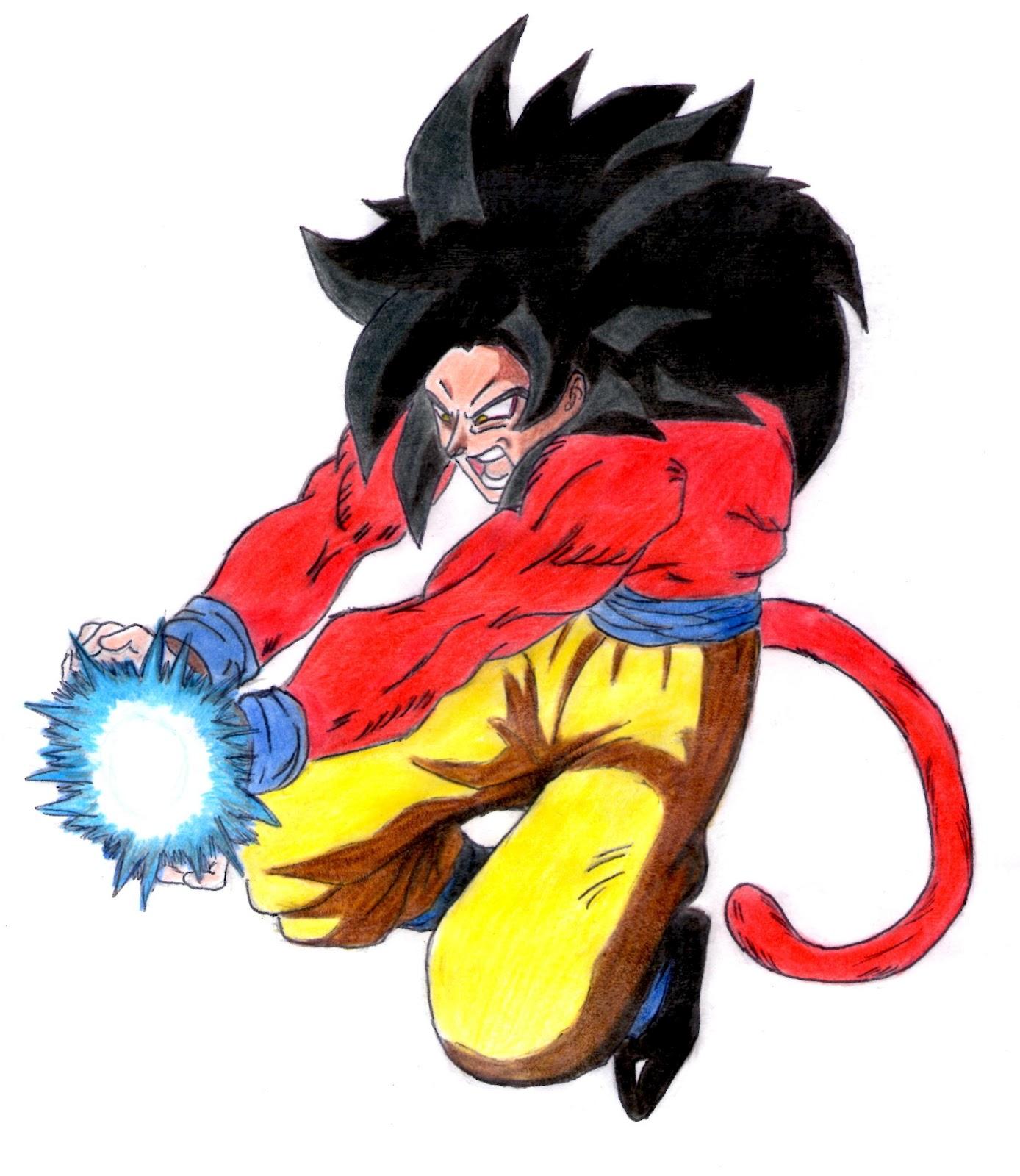 Imagenesde99: Imagenes De Goku Ssj4 A Lapiz