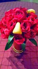 Fun centerpieces at the Portland Center Stage production of Cyrano Opening Night