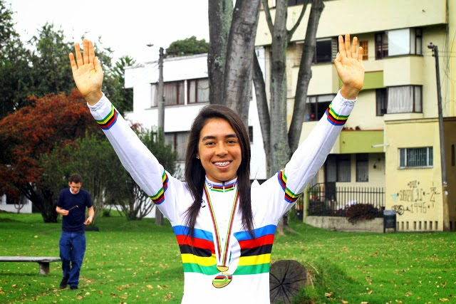 Jessica Parra. A los 18 años, esta bogotana cumplió uno de sus sueños: ser la Campeona Mundial Juvenil de Pista en Escocia 2013. Su próxima meta es ganar el Campeonato Mundial de Ruta que se cumplirá en el mes de octubre.