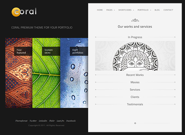 Coral WordPress Theme for Artists