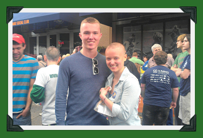 Meet the Family of Views From the Ville - Ashley & Austin at the St. Baldrick's Head-Shaving Event