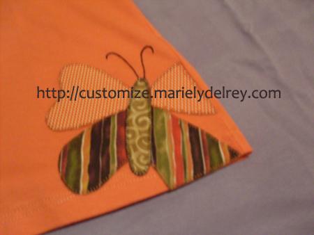 Customização de Camisetas com aplique de tecido