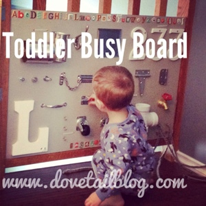 toddler busy board, dovetail blog, simple on purpose