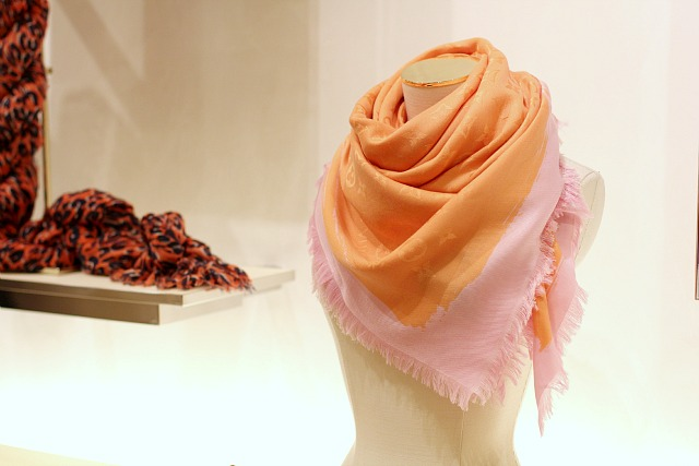 louis vuitton pink orange scarf
