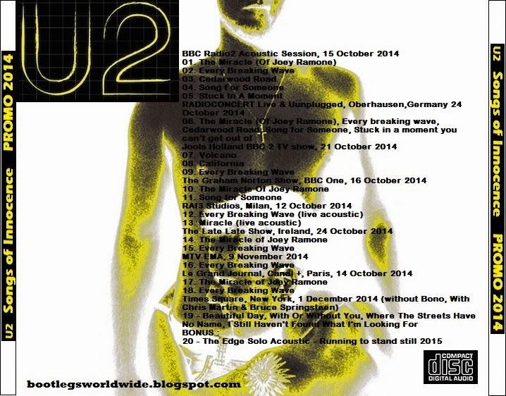 U2 - Songs Of Innocence, Promo 2014 (CD & Covers) - Guitars101
