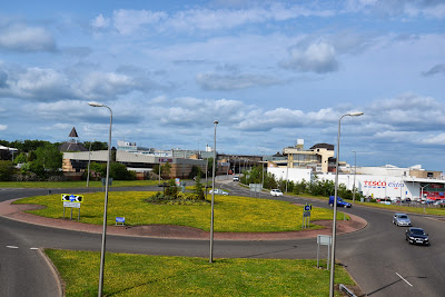 26-06-2013 - By Scott Campbell (+44) 0774 296 870 - Cumbernauld Town Centre; Picture shows Cumbernauld Town Centre, as viewed from Seafar-Cabrain footbridge.