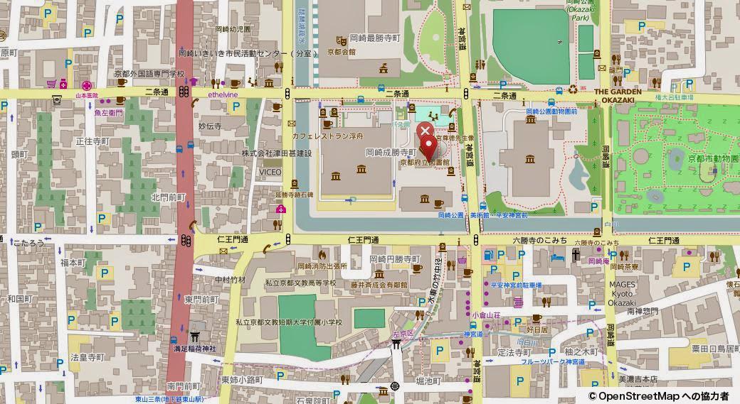 京都府立図書館MAP