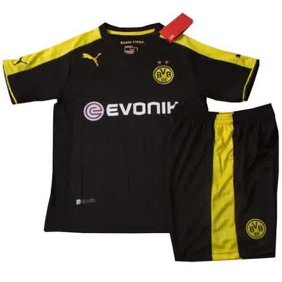 Jual Jersey Kids Dortmund Away Warna Hitam