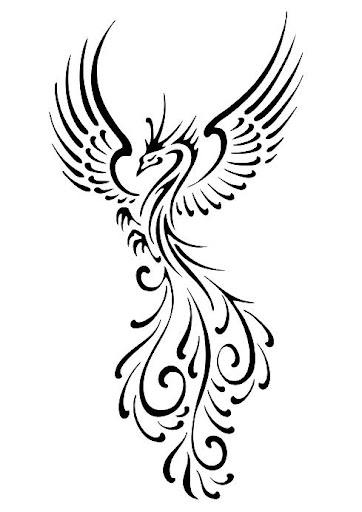 black pheonix tattoo designs