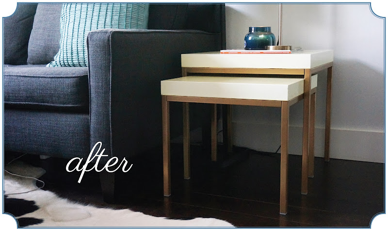 upcycled Ikea tables