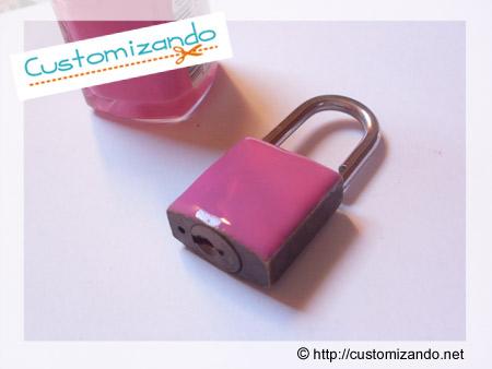 Customização de chave com esmalte
