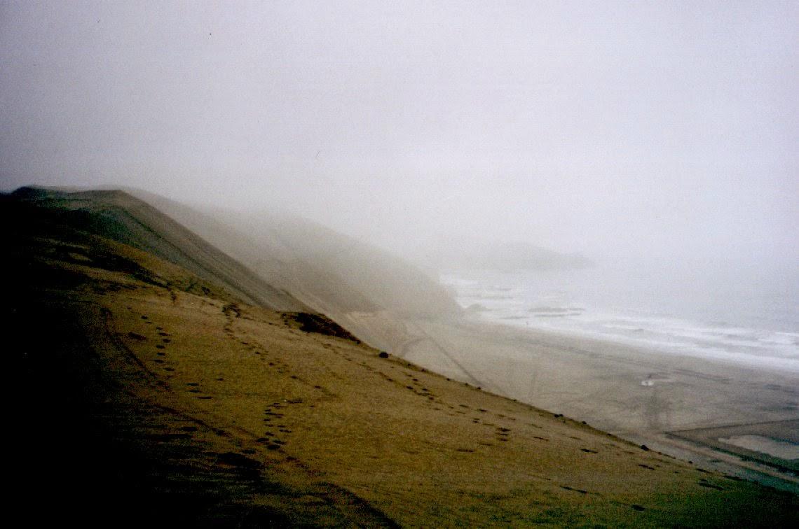 Blick auf den Pazifik, irgendwo in der Nähe von San Vincente de Cañete.