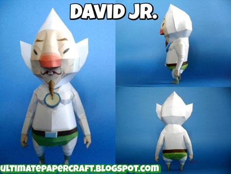 David Jr. Papercraft