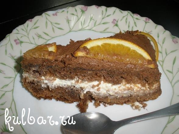 Апельсиновый торт в разрезе фото