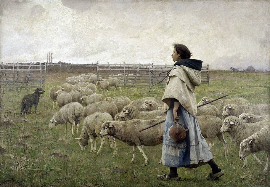 Charles Sprague Pearce - Le retour du troupeau