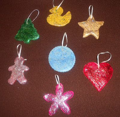 Glittering Salt Dough Ornaments