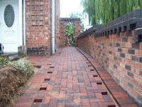 block paving underway