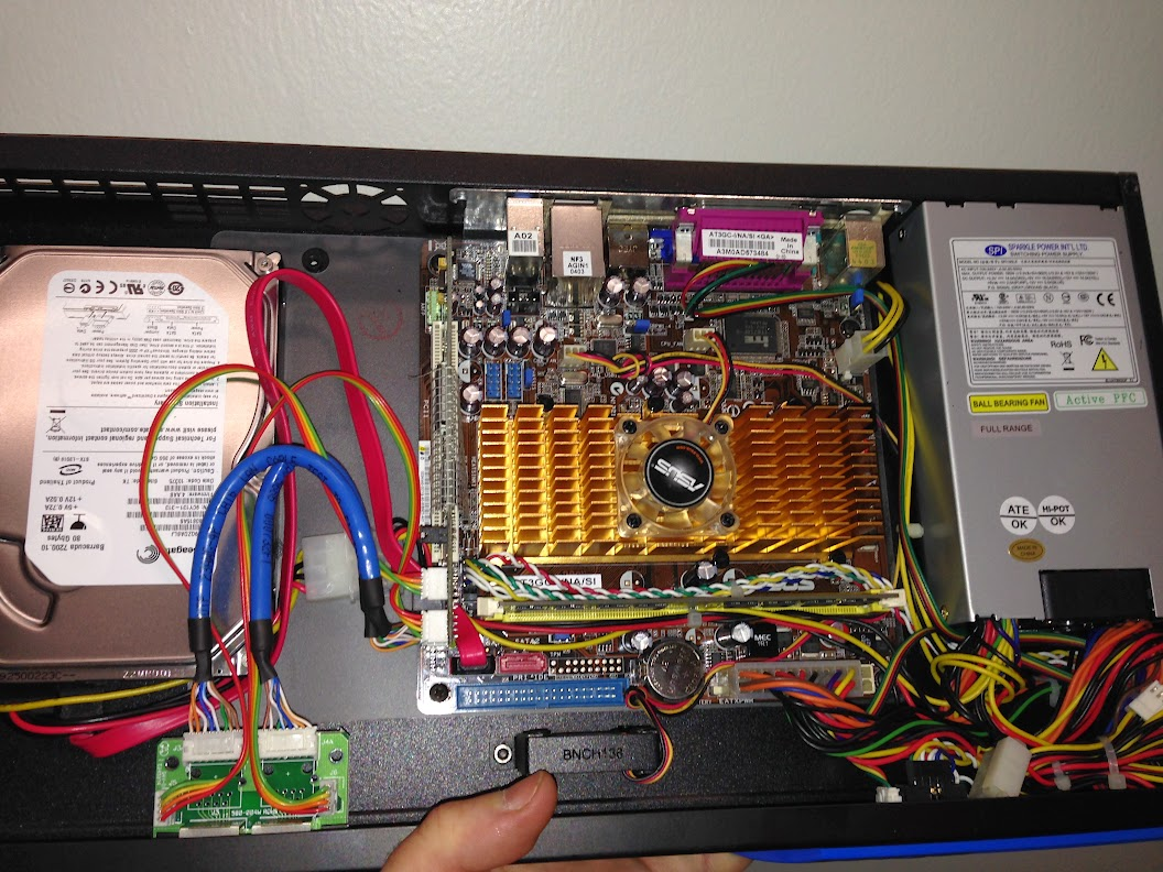Inside of case