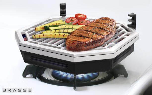 *瓦斯爐上也可以享受BBQ美味:Brassé BBQ室內無煙燒烤爐架! 1