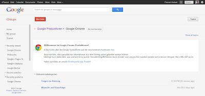 Google Foren auf Google Groups