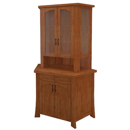 Palermo Corner Cabinet in Vermont Maple
