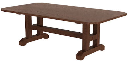 "80"" x 42"" Trestle Conference Table in Frontier Oak"