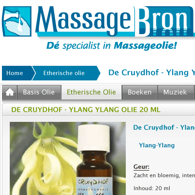 MassageBron Logo header screenshot · ontwerp van Atelier Bram de Haan