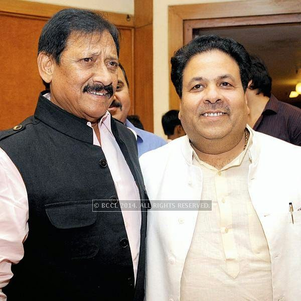 Former cricketer and ex-MP, Chetan Chauhan, celebrated his 67th birthday in the capital recently. Chetan Chauhan (L) and Rajeev Shukla pose for a photoup.
