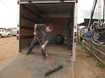 """Aden and I cleaned out the """"fun trailer"""" today...there was too much unorganized fun stuff and it was cutting into our fun having abilities"""