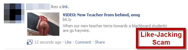 Facebook Alert: Avoid the Like Jacking New Teacher Scam Link