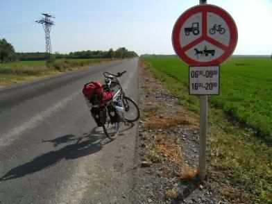 Begrenzte Zeiten für die Nutzung der Landstraße mit Rädern, Ungarn