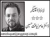 Aamir Liaquat Hussain Column - 15th November 2013