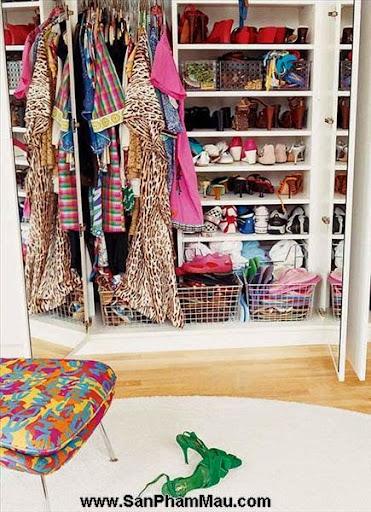 Thiết kế tủ quần áo: Một số thủ thuật giúp tăng diện tích để quần áo-1